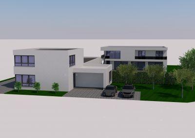Planung eines Wohnhauses mit Technologiezentrum und Büroflächen